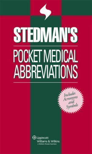 Stedmans Pocket Medical Abbreviations 2006 Paperback Ebay