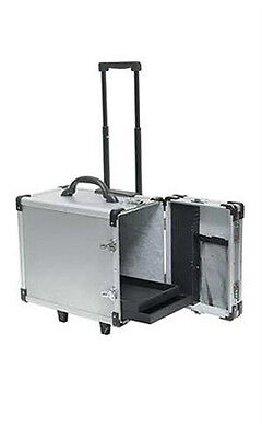 New Aluminum Rolling 12 Tray Jewelry Cases - 16 3l X 9 38w X 13 12h