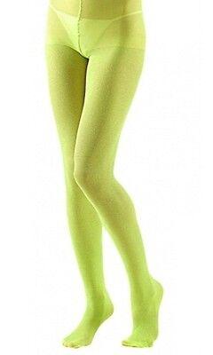 Lime Green Glitter Sparkle Tights Hosiery XL Plus Size Fancy Dress  (16-20)  (Glitter Tights Plus Size)