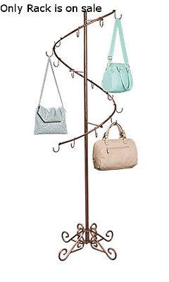 Spiral Handbag Rack In Cobblestone 6 Feet High X 17 W Inch
