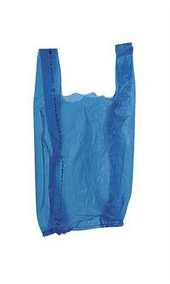 New 2000 Bags Retail Small Blue Plastic T-shirt Shopping Bags 8