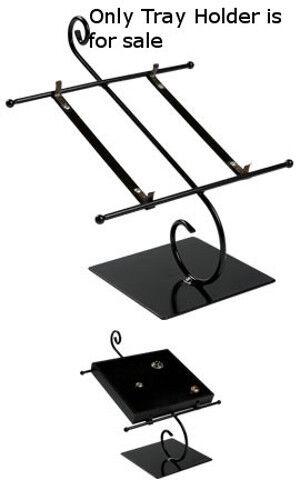 Black Tray Holder 10 W x 10½ H Inches