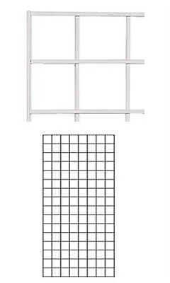 Wire Grid Wall Panel In White 2 X 4 Feet - Case Of 4