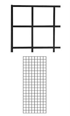 Black Wire Grid Wall Panel 2 X 5 Feet - Pack Of 4