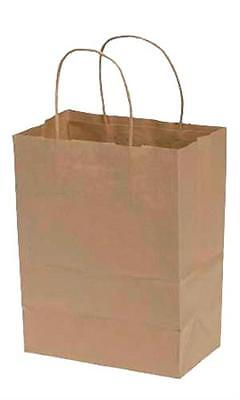 Paper Shopping Bags 250 Kraft Gift Merchandise 8 X 4 D X 10 H Recycled