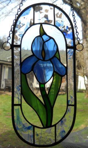 Stained Glass Iris Ebay