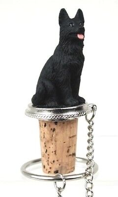 GERMAN SHEPHERD BLACK    DOG WINE STOPPER