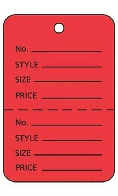 2000 Perforated Tags Price Sale 1 X 2 Two Part Red Coupon Pricing Unstrung