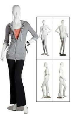 Mannequin Fiberglass Full Body Female Posing Metal Base Retail Clothing Display