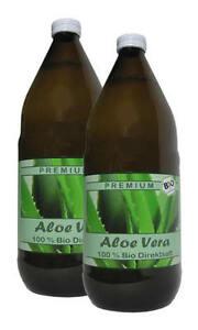 2 Liter (EUR 8,98 / L)  BIO Aloe Vera Saft 100% DIREKTSAFT IASC   #110#