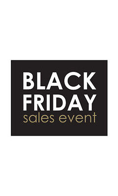 Black Friday Sales Event Small Sign Card 5½ H x 7 W Inch - Lot of 25