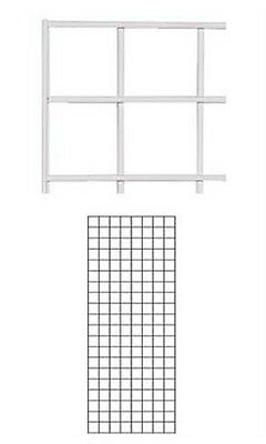 Box Of 4 New Retails White Finish Wire Grid Wall Panel 2 X 5