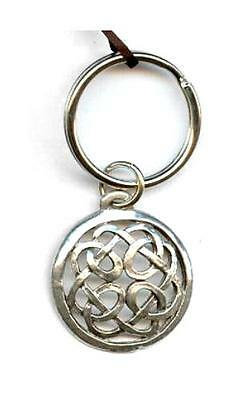Lovers Knot Key Pewter Ring - Celtic