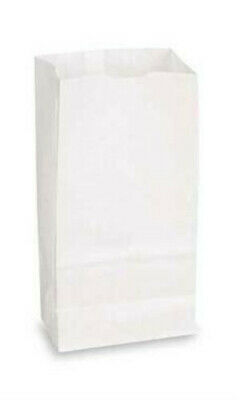"White Paper Grocery Bags - 5"" x 3 ?"" x 9 ¾"" - Count of 1000"