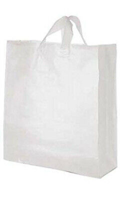 Jumbo Clear Frosted Plastic Shopping Bag 16 X 6 X 19 - Count Of 100