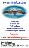 Swimming Lessons ...Contact to Book your FREE Swimming Session