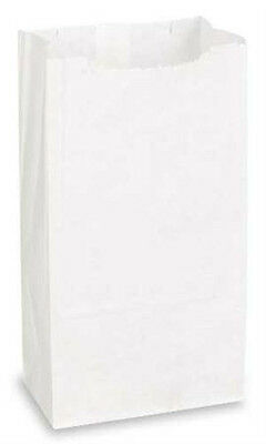 White Paper Grocery Bags 6 x 3.625 x 11.062 Inches - Count of 1000