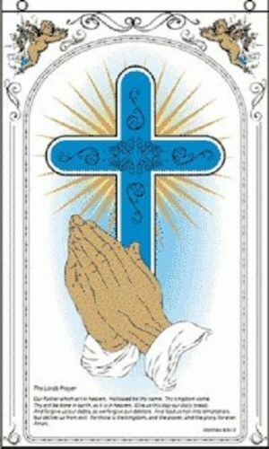 praying hands flag christian cross religious banner