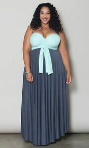 Eternity Maxi Dress Mint and Charcoal