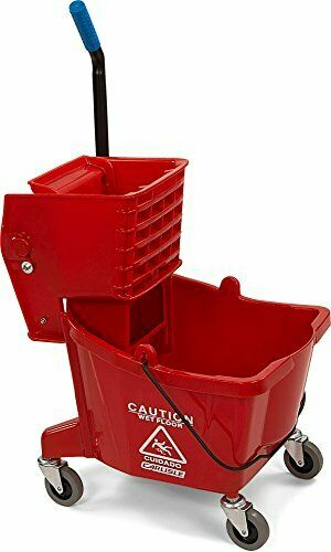 Carlisle 3690805 Commercial Mop Bucket with Side Press Wringer 26 Quart Capacity