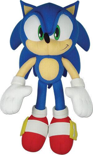 "GENUINE Sonic the Hedgehog 14"" Sonic Stuffed Plush GE Animation GE-52749"