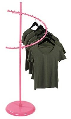 Spiral Clothing Rack Clothes Garment Retail Store Hot Pink 29 Ball 63 H