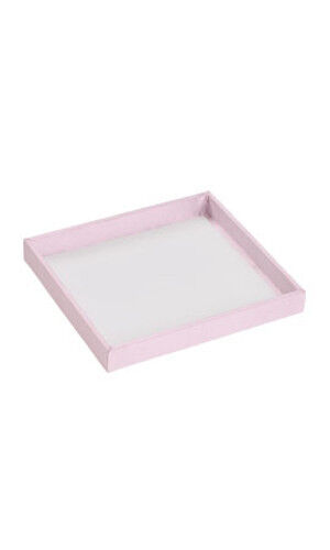 Pink Open Top Small Trays 8 1/4L X 7 1/4W X 1 D Inches - Case of 10