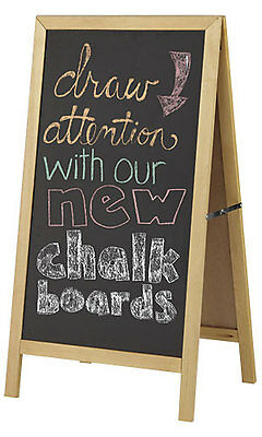 Wooden A-frame Chalkboard Sign 23 42 H Outdoor Magnetic Eraser Chalk Board