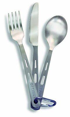 Optimus Titanium 3-Piece Cutlery Set (fork, knife, spoon), New, Free Shipping