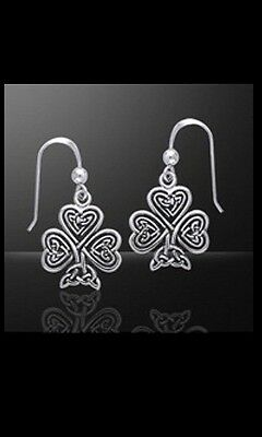 Celtic Shamrock SS Earrings - Hook