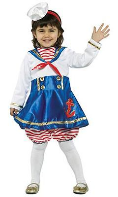 LIL' SAILOR GIRL NAUTICAL CHILD HALLOWEEN COSTUME TODDLER SIZE 3-4T