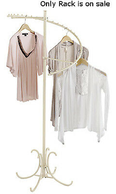 Spiral Clothes Display Rack In Ivory Finish 60h Inches