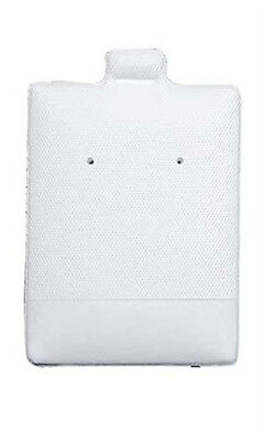 Earring Cards Puffed Plastic In White 1.5 W X 1.75 L Inches - Case Of 200