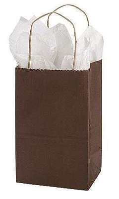Paper Shopping Bags 100 Brown Kraft Retail Merchandise Gift 5 X 3 X 8
