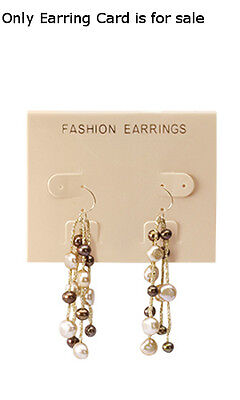 Earring Cards Imprinted Plastic In Tan Finish 2.5 W X 2 L Inches - Case Of 200