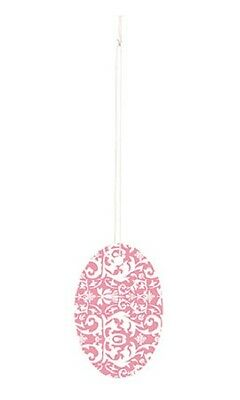 500 Strung Price Tags 1 H X 1 W Pink White Damask White Back String Small