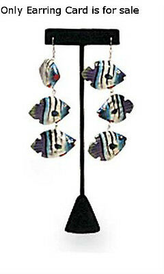 Lot Of 10 New Retails Black Velvet Earring T-bar Displays 5 34 H