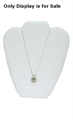 Leather Necklace Display Easel In White 7 18w X 8 38h Inches - Lot Of 10