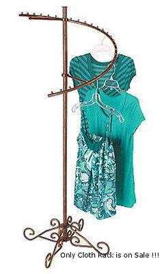 Spiral Garment Floor Rack In Cobblestone With Flat Caps