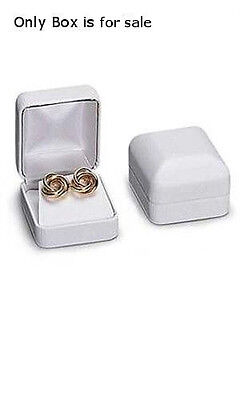 Faux Leather Ring Box In White 2 X 1 X 1 Inches - Case Of 10