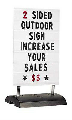 Changeable Lettering Sidewalk Springer Sign In Black 45h X 24w Inches