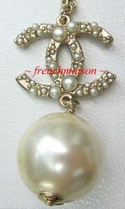 Chanel pearl necklace ebay chanel logo pearl necklace aloadofball Gallery