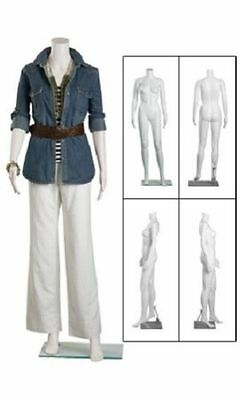 Full Body Mannequin Form Female Plastic Boutique Size 6 Headless Retail