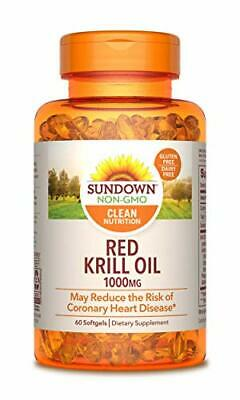 Sundown Naturals Triple Strength Red Krill Oil 1000 mg, 60 S