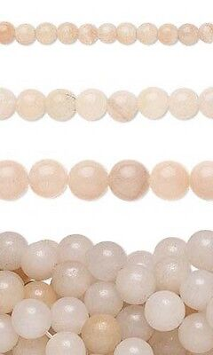 50 Genuine Round Pink Aventurine Natural Gemstone Stone Beads Small - Big