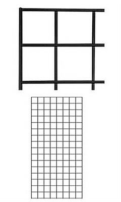 Wire Grid Wall Panel In Black 2 X 4 Feet - Case Of 4