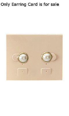 Earring Cards Plastic In Tan 2.5 W X 2 L Inches - Case Of 200