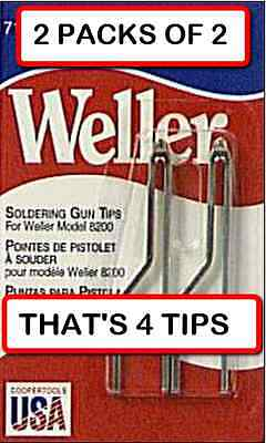 2 Packs Of 2 4 Tips Weller 7135w Solder Tip For 8200 And 9200 Soldering Gun