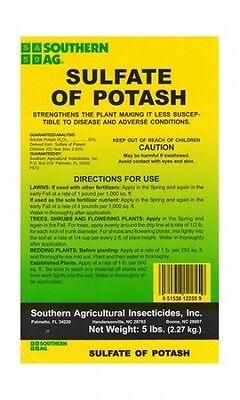 Southern Ag Sulfate Of Potash 0 0 50  5 Lbs