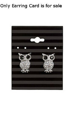 Earring Cards In Black Stripes 2 W X 2 12 H Inches - Count Of 100